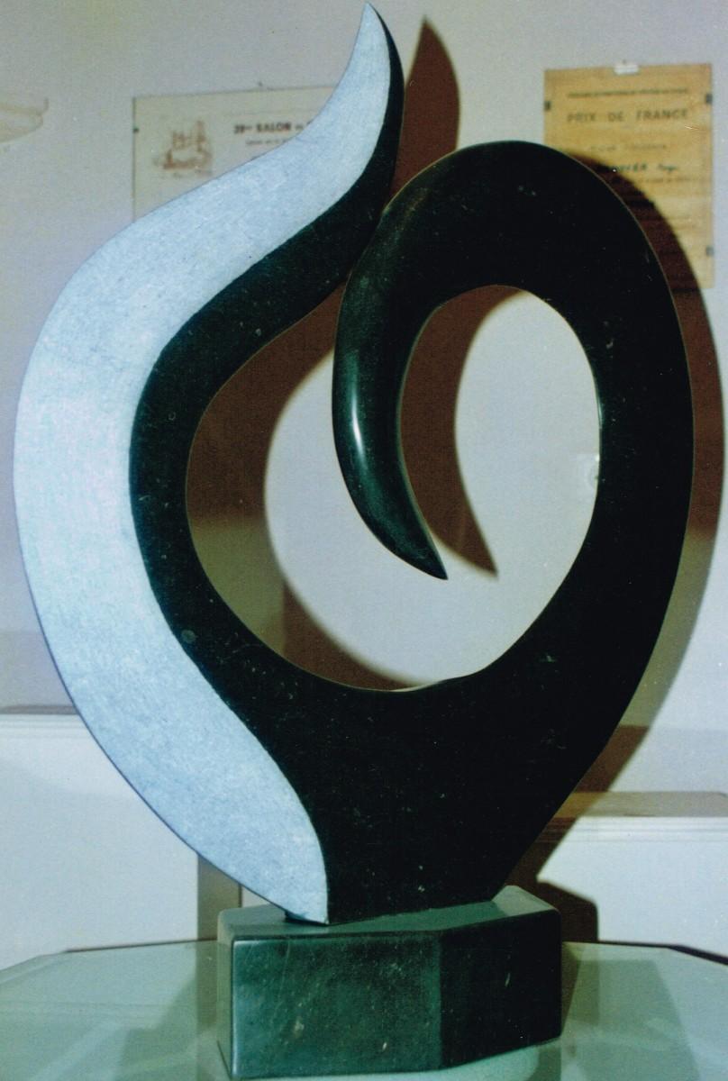 Végétal noir marbre noir de Sixt